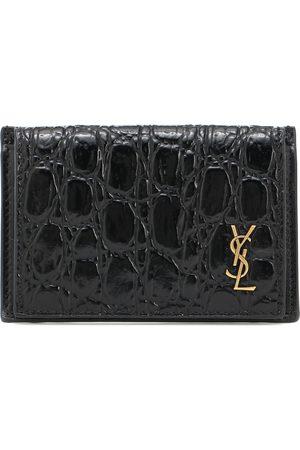 Saint Laurent Croc-effect leather wallet