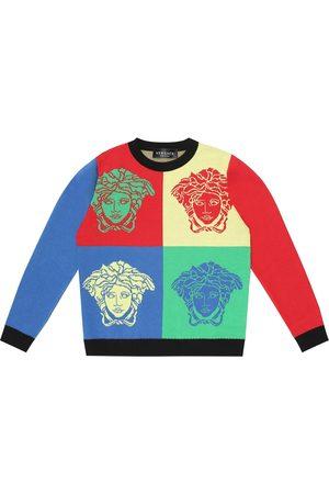 VERSACE Logo cotton sweatshirt