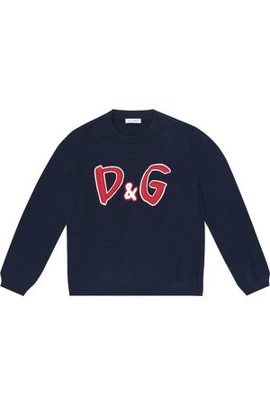 Dolce & Gabbana Logo-embroidered wool sweater