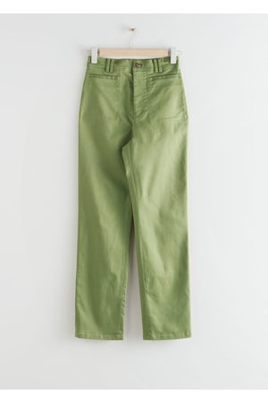 & OTHER STORIES Slim Lyocell Blend Trousers