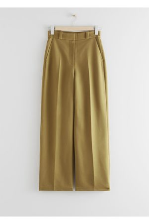 & OTHER STORIES Wide Leg Wool Blend Twill Trousers