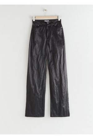 & OTHER STORIES Shiny Wide High Waist Trousers