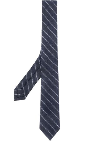 Thom Browne Men Bow Ties - Tonal ground chalk stripe tie