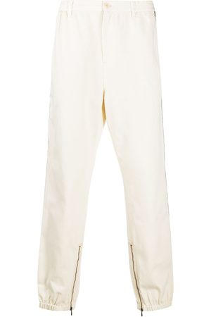Gucci Men Pants - Side-stripe tapered-leg trousers