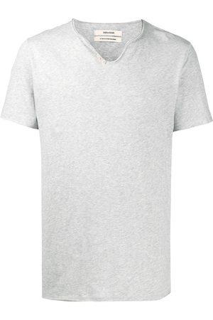 Zadig & Voltaire Monastir Henley-neck T-shirt - Grey