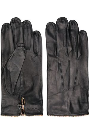 Paul Smith Men Gloves - Striped trim leather gloves