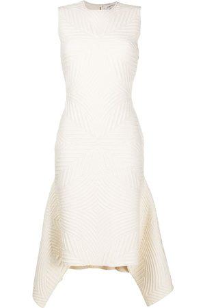 Alexander McQueen Textured asymmetric dress