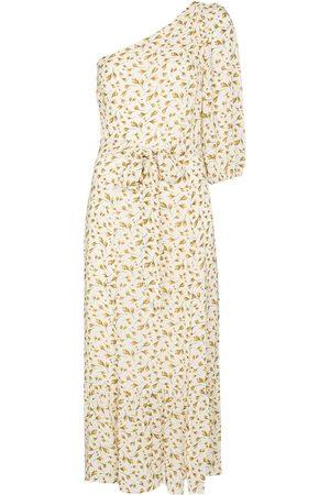 Reformation Women Printed Dresses - Freeport floral-print one-shoulder dress