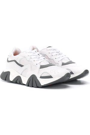 Versace Kids Girls Sneakers - Low-top leather sneakers