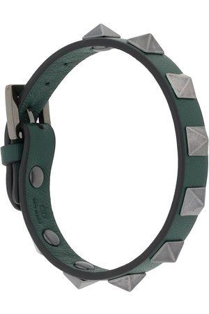 VALENTINO GARAVANI Men Bracelets - Rockstud leather bracelet
