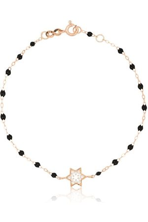 GIGI CLOZEAU 18kt rose gold diamond star beaded bracelet