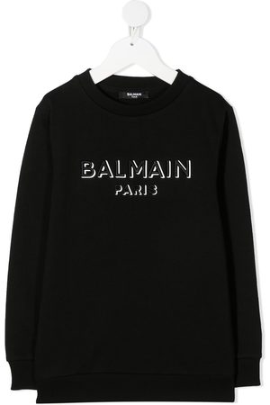Balmain Embroidered logo cotton sweatshirt