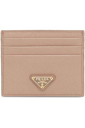 Prada Logo plaque card holder - Neutrals