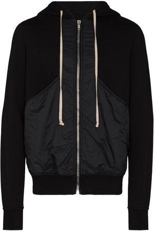 Rick Owens Panelled drawstring hoodie