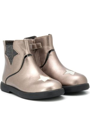 Camper Kido star-patch ankle boots - Neutrals