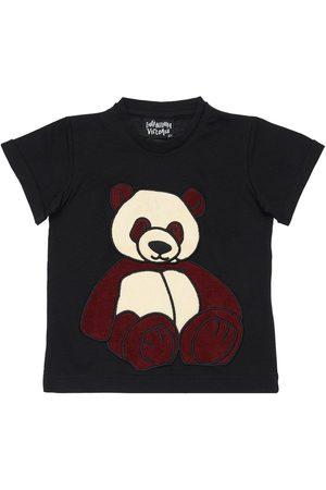 INFANTIUM VICTORIA Panda Print Organic Cotton T-shirt