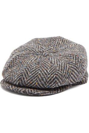Lock & Co Hatters Tremelo Wool-tweed Flat Cap - Mens - Grey