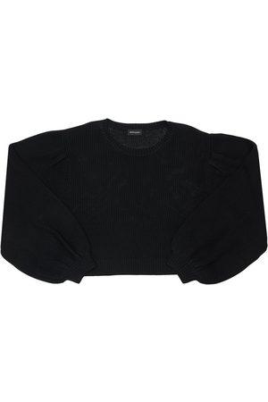 MONNALISA Knit Sweater W/ Star Patches