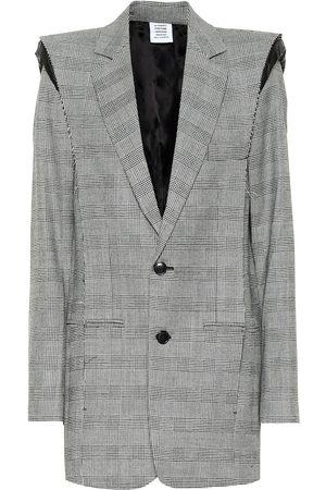 Vetements Checked wool-blend blazer