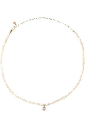 Sydney Evan 14kt yellow gold choker with pearls and diamonds