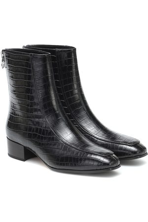 Aeyde Amelia croc-effect ankle boots