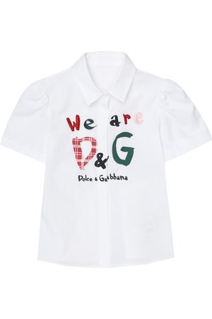 Dolce & Gabbana Embroidered cotton blouse