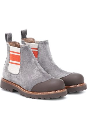 Brunello Cucinelli Boys Boots - Suede Chelsea boots