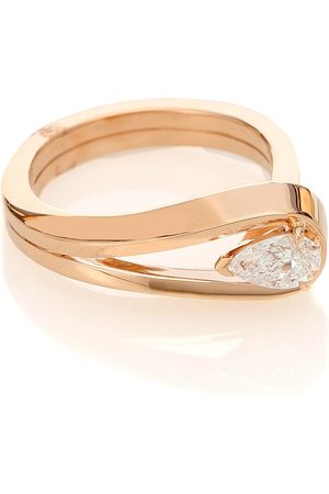 Repossi Serti Inversé 18kt rose ring with diamond