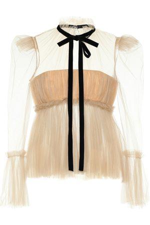 Khaite Dominika tulle blouse
