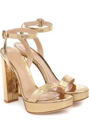 Gianvito Rossi Croc-effect leather sandals
