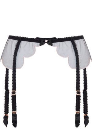 Agent Provocateur Lorna Suspender In With Embroidered Edging