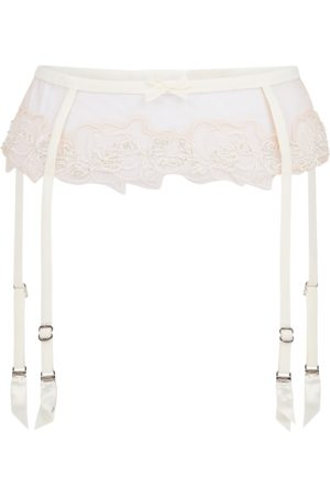 Agent Provocateur Lindie Bridal Suspender In Nude & Ivory