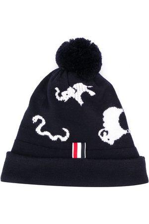 Thom Browne Animal intarsia merino wool hat