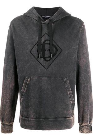 Dolce & Gabbana Acid wash logo hoodie - Grey