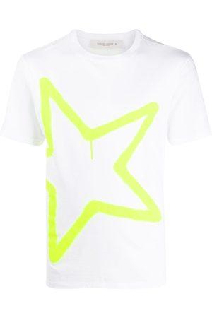 Golden Goose Neon star print T-shirt