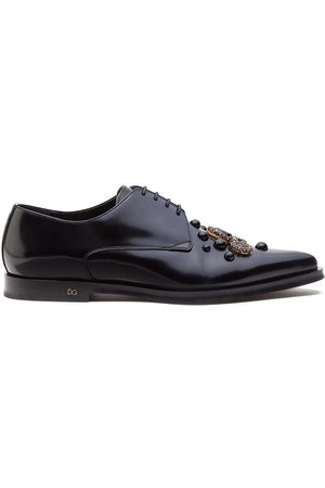Dolce & Gabbana Embellished leather derby shoes