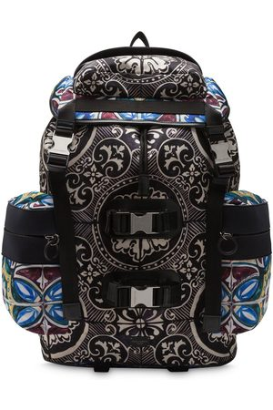 Dolce & Gabbana Stained-glass print backpack