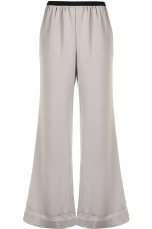 GOODIOUS Women Wide Leg Pants - Cropped wide-leg trousers - Grey