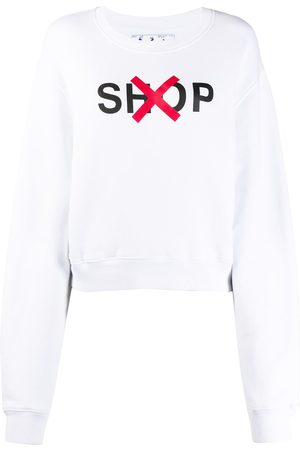 OFF-WHITE Shop' print cotton sweatshirt
