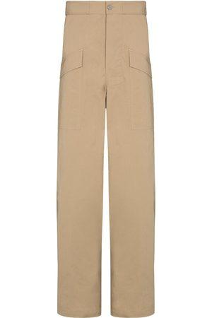 Bottega Veneta Wide-leg cargo trousers - Neutrals