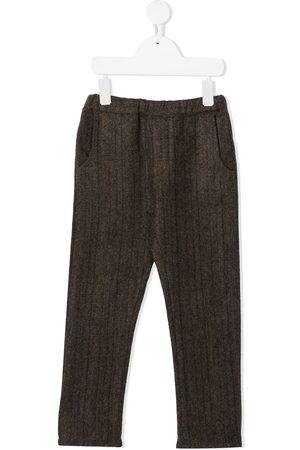 Violeta e Federico Striped herringbone trousers