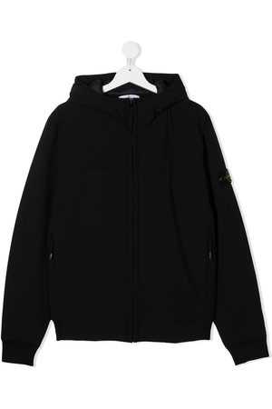 Stone Island TEEN logo patch hoodie