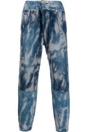 AMBUSH Acid wash denim track pants
