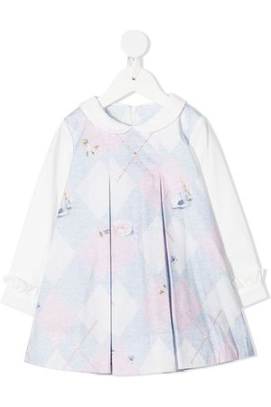 Lapin House Floral argyle print dress