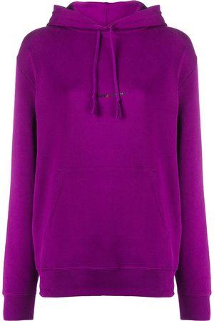 Saint Laurent Women Hoodies - Logo print cotton hoodie