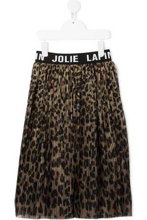 Lapin House Girls Printed Skirts - Leopard print pleated skirt