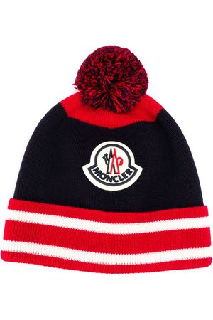 Moncler Boys Beanies - Logo embroidered beanie hat