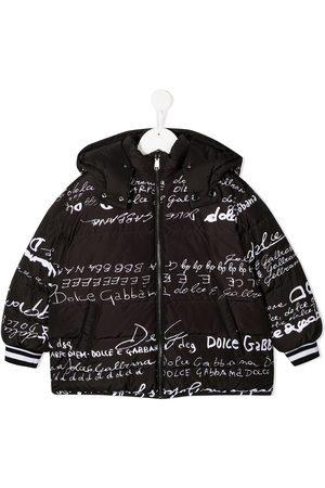 Dolce & Gabbana Logo print padded coat