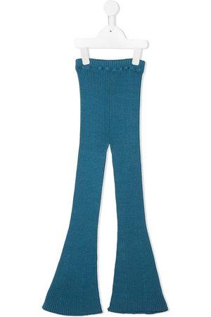 Violeta e Federico Ribbed knit flared trousers