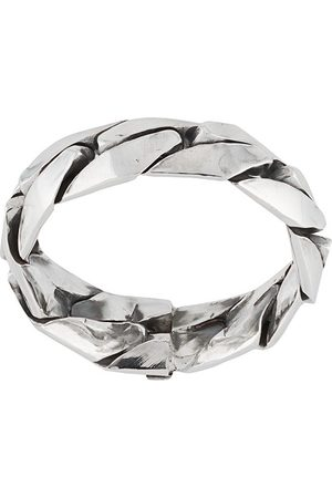 EMANUELE BICOCCHI Engraved-logo band ring - Metallic